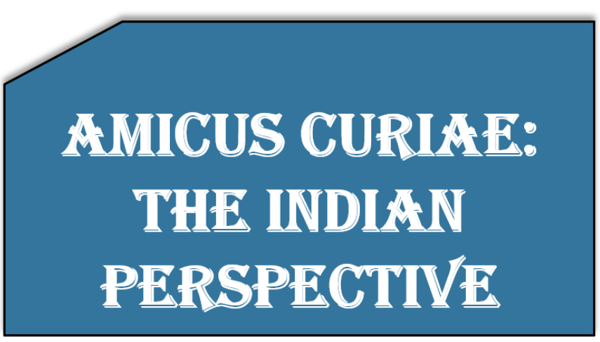 Amicus Curiae: The Indian perspective
